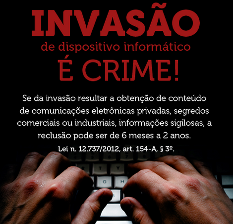 Invasão de dispositivo informatico é crime!